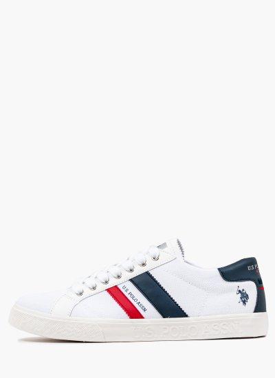 Men Casual Shoes Marcs030 White Fabric U.S. Polo Assn.