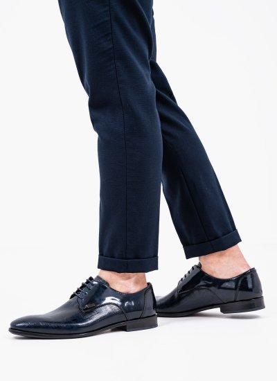 Men Shoes Q4972.Glm Blue Leather Boss shoes