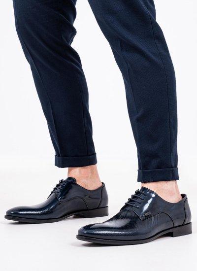 Men Shoes Q4972.Pyr Blue Leather Boss shoes
