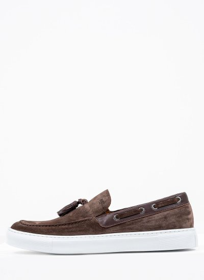 Men Moccasins Q5220 Brown Suede Leather Boss shoes