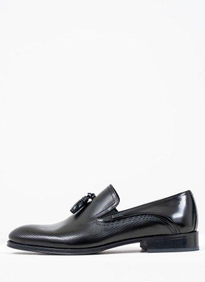 Men Moccasins Q5429.RMN Black Florentik Boss shoes