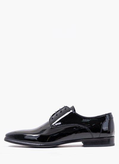 Men Shoes Q6383.Pat Black Shiny Leather Boss shoes