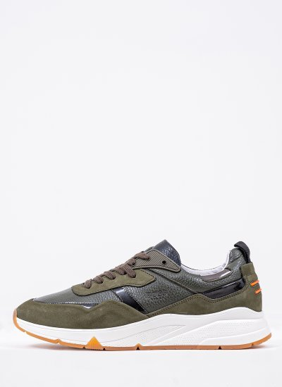 Men Casual Shoes QT372 Green Leather Boss shoes