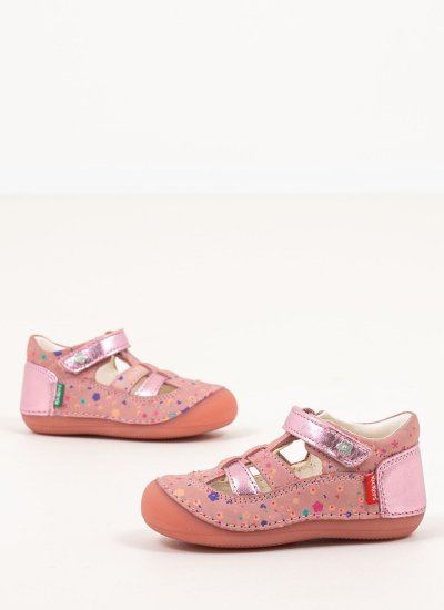 Kids Casual Shoes 784847 Pink Leather Kickers