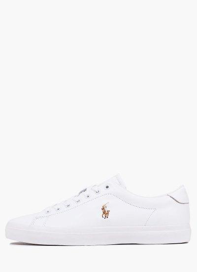 Men Casual Shoes Longwood.Vlc White Leather Ralph Lauren
