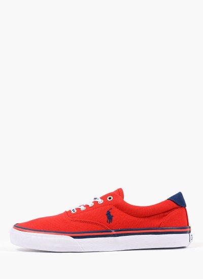 Men Casual Shoes Thorton.Sk.Vlc Red Fabric Ralph Lauren