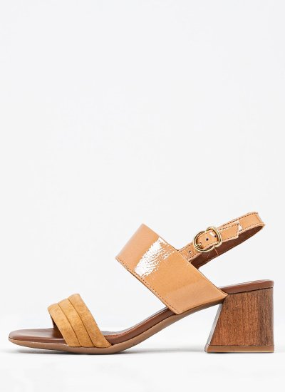 Women Sandals Low 4464 Tabba Shiny Leather Alpe
