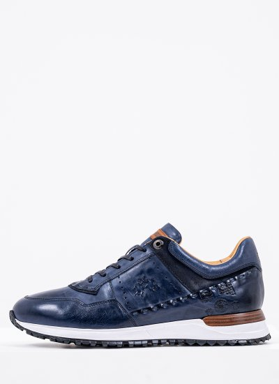 Men Casual Shoes M211070 Blue Leather La Martina