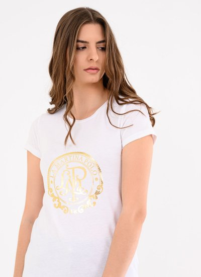 Women T-Shirts - Tops RWR307 White Cotton La Martina