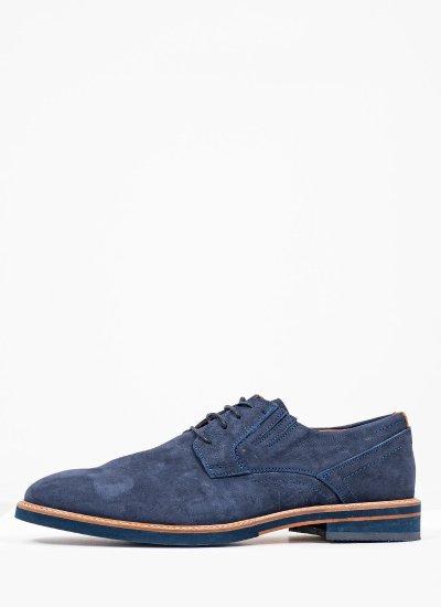 Men Shoes 1250 Blue Nubuck Leather Damiani