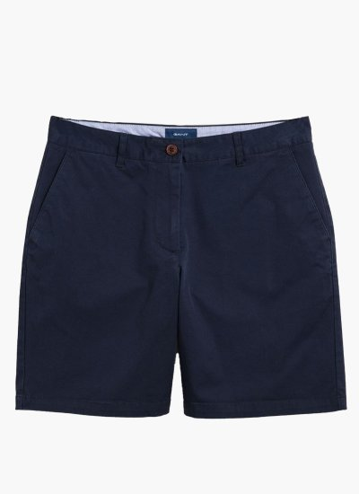 Women Skirts - Shorts Classic.Chino DarkBlue Cotton GANT