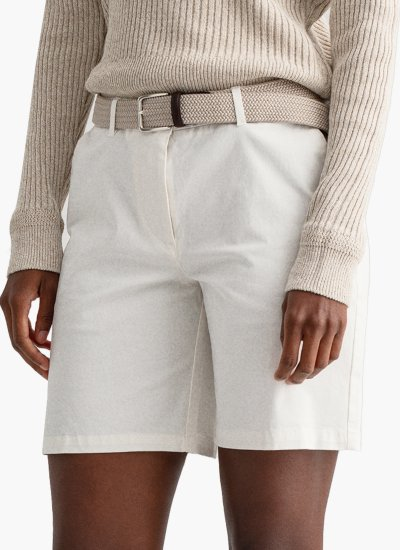 Women Skirts - Shorts Classic.Chino White Cotton GANT