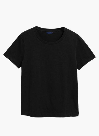 Women T-Shirts - Tops Original.Ss.W Black Cotton GANT
