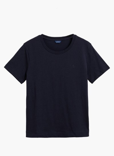 Women T-Shirts - Tops Original.Ss.W DarkBlue Cotton GANT