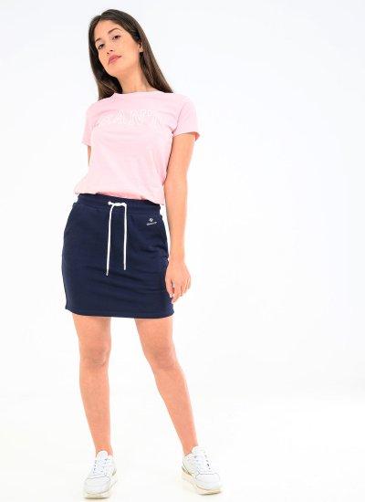 Women Skirts - Shorts Sweat.Skirt Blue Cotton GANT