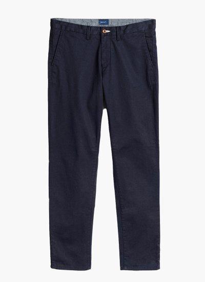 Men Pants Twill DarkBlue Cotton GANT