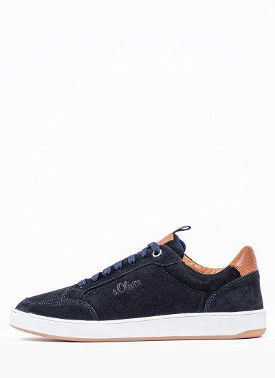 Men Casual Shoes 13607 DarkBlue Nubuck Leather S.Oliver