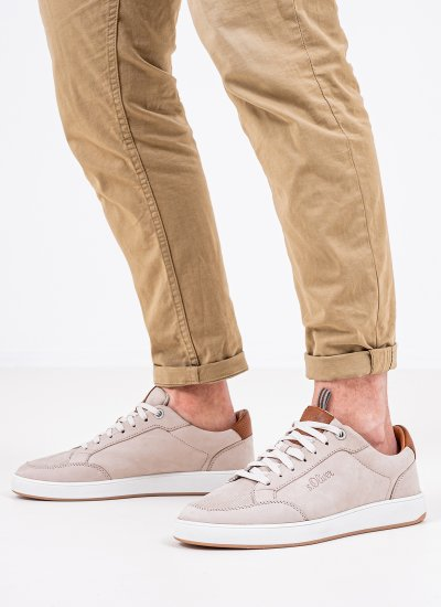 Men Casual Shoes 13607 Beige Nubuck Leather S.Oliver