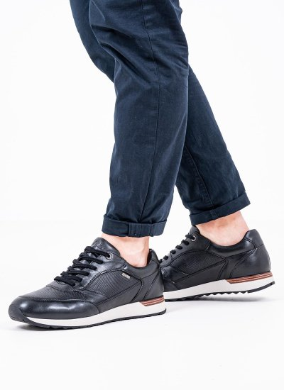 Men Casual Shoes 13627 Black Leather S.Oliver