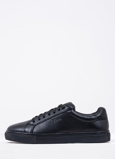 Men Casual Shoes 13632 Black Leather S.Oliver