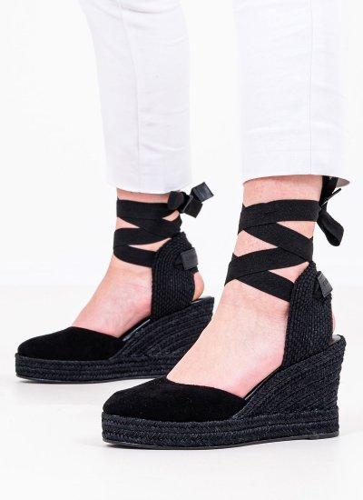 Women Espadrilles 101 Black Leather Komis and Komis