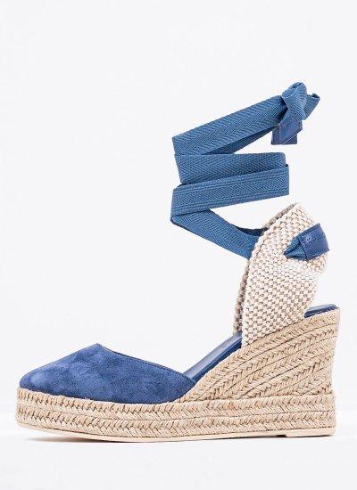 Women Espadrilles 101 Blue Leather Komis and Komis