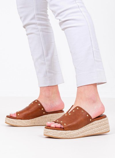 Women Platforms Low 70 Tabba Leather Komis and Komis