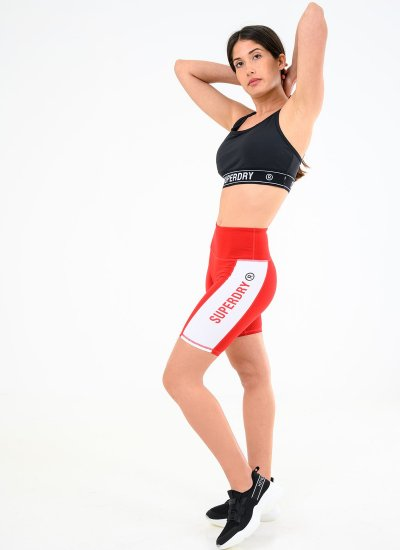 Women Skirts - Shorts Active.Lifestyle Red Cotton Superdry