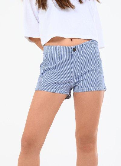 Women Skirts - Shorts Chino.Shorts.H Blue Cotton Superdry