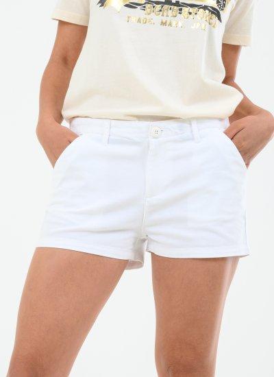 Women Skirts - Shorts Chino.Shorts.H White Cotton Superdry