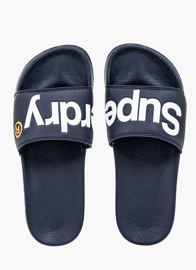 Men Flip Flops & Sandals MF310008A Blue Eco-Leather Superdry