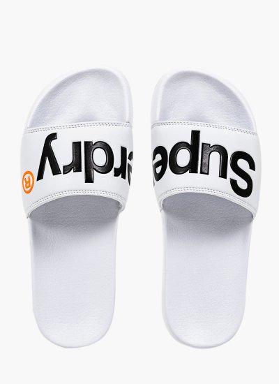 Men Flip Flops & Sandals MF310008A White Eco-Leather Superdry