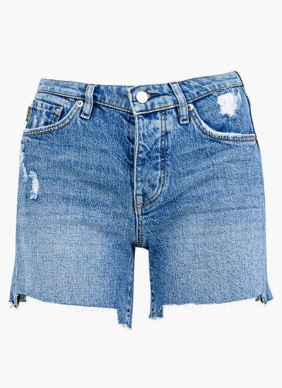 Women Skirts - Shorts Mid.Rise Blue Cotton Superdry
