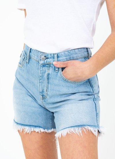 Women Skirts - Shorts Mid.Rise LightBlue Cotton Superdry