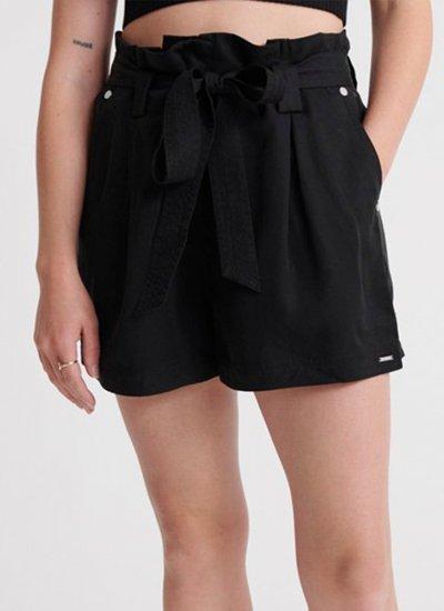 Women Skirts - Shorts Paper.Bag Black Superdry