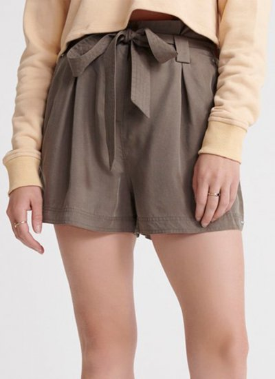 Women Skirts - Shorts Paper.Bag Olive Superdry