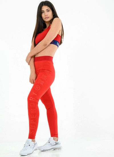Sport.Leg Red Polyester Superdry