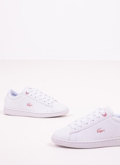 Kids Casual Shoes Carnaby921.M White Eco-Leather Lacoste