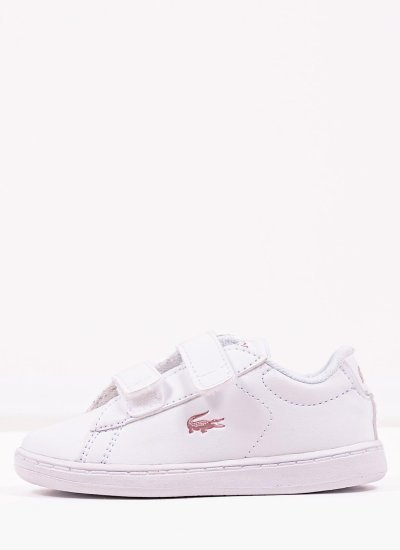 Kids Casual Shoes Carnaby921 White Eco-Leather Lacoste