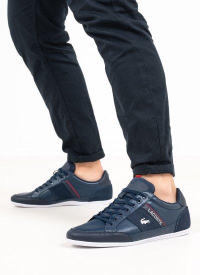 Men Casual Shoes Chaymon.721 Blue Leather Lacoste