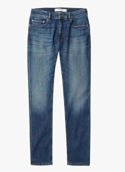 Men Pants Jeans.Pocket DarkBlue Cotton Lacoste