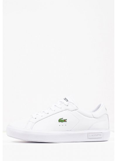Women Casual Shoes Powercourt White Eco-Leather Lacoste