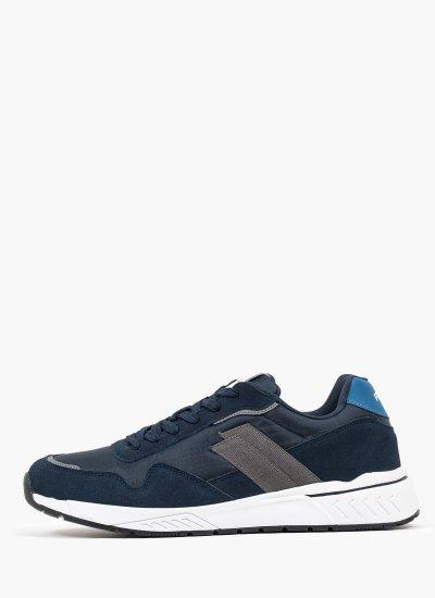 Men Casual Shoes 0401 Blue Suede Leather Frau