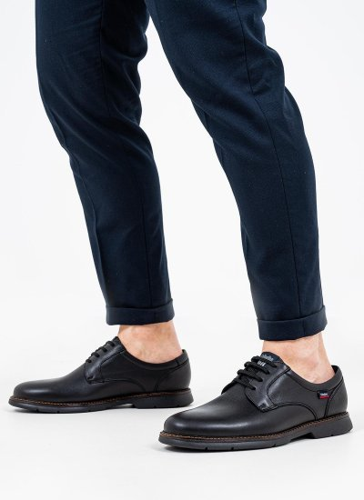 Men Shoes 46700 Black Leather Callaghan