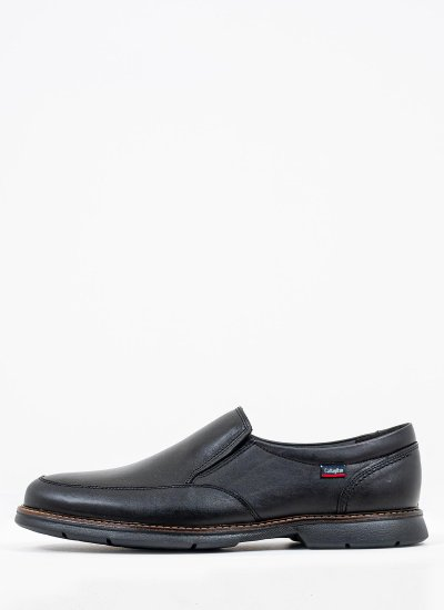 Men Moccasins 46701 Black Leather Callaghan