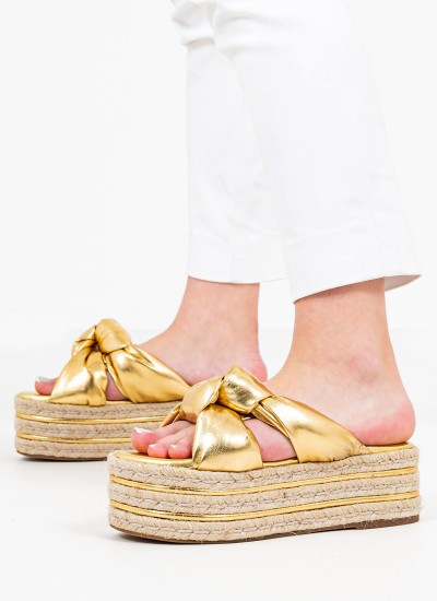 Women Platforms Low Izaro Gold Eco-Leather Jeffrey Campbell
