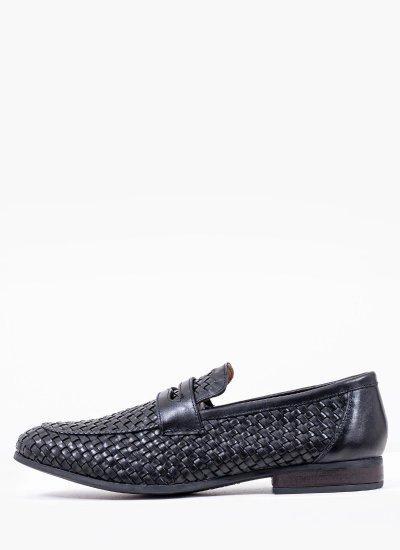 Men Moccasins 1751 Black Leather Philippe Lang