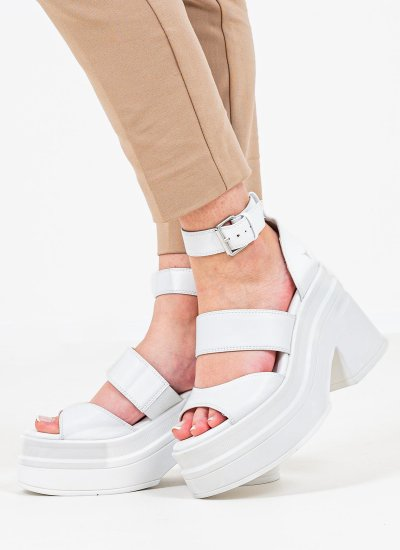 Women Sandal High Match White Leather Windsor Smith
