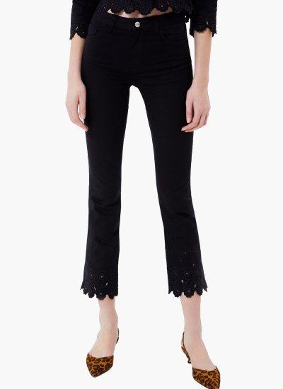 Cropped.trousers Black Cotton LIU JO