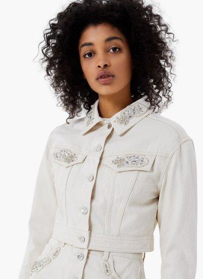 Women Coats - Jackets Giubbino White Cotton LIU JO